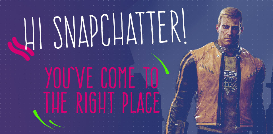 Welcome Snapchatter!